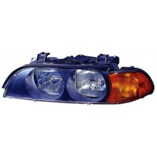 1998 -  2000 BMW 528i Front Headlight Assembly Replacement Housing / Lens / Cover - Left <u><i>Driver</i></u> Side