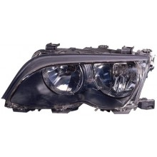 2002 -  2005 BMW 325i Front Headlight Assembly Replacement Housing / Lens / Cover - Left <u><i>Driver</i></u> Side - (4 Door; Sedan + 4 Door; Wagon)