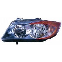 2007 -  2008 BMW 328i Front Headlight Assembly Replacement Housing / Lens / Cover - Left <u><i>Driver</i></u> Side - (E90 Body Code; Sedan + E90 Body Code; Wagon + E91 Body Code; Sedan + E91 Body Code; Wagon)