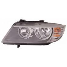 2009 - 2011 BMW 328i Front Headlight Assembly Replacement Housing / Lens / Cover - Left <u><i>Driver</i></u> Side - (E90 Body Code; Sedan + E90 Body Code; Wagon + E91 Body Code; Sedan + E91 Body Code; Wagon)
