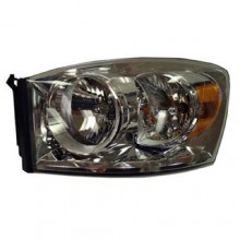 2007 -  2009 Dodge Ram 3500 Front Headlight Assembly Replacement Housing / Lens / Cover - Left <u><i>Driver</i></u> Side
