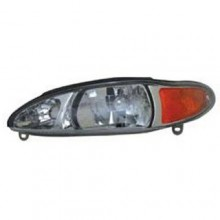 1997 -  2002 Ford Escort Front Headlight Assembly Replacement Housing / Lens / Cover - Left <u><i>Driver</i></u> Side - (4 Door; Sedan + 4 Door; Wagon)