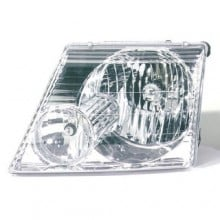2002 -  2005 Ford Explorer Front Headlight Assembly Replacement Housing / Lens / Cover - Left <u><i>Driver</i></u> Side - (Eddie Bauer + Limited + NBX + Postal + XLS + XLT)