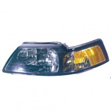 2001 -  2004 Ford Mustang Front Headlight Assembly Replacement Housing / Lens / Cover - Left <u><i>Driver</i></u> Side