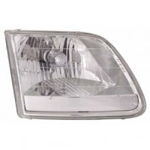 1996 - 2004 Ford F-150 Heritage Front Headlight Assembly Replacement Housing / Lens / Cover - Left <u><i>Driver</i></u> Side - (XL + XLT)