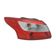 2012 -  2014 Ford Focus Rear Tail Light Assembly Replacement Housing / Lens / Cover - Left <u><i>Driver</i></u> Side - (Sedan)