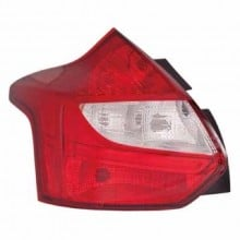 2012 -  2013 Ford Focus Rear Tail Light Assembly Replacement Housing / Lens / Cover - Left <u><i>Driver</i></u> Side - (Hatchback)