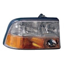 1998 -  2004 GMC Sonoma Front Headlight Assembly Replacement Housing / Lens / Cover - Left <u><i>Driver</i></u> Side