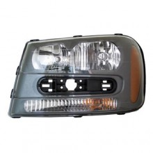 2002 -  2009 Chevrolet Trailblazer Front Headlight Assembly Replacement Housing / Lens / Cover - Left <u><i>Driver</i></u> Side - (Base Model + A + B + LS + SS)
