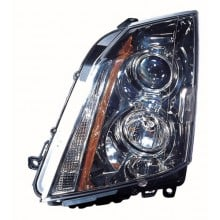 2008 -  2014 Cadillac CTS Front Headlight Assembly Replacement Housing / Lens / Cover - Left <u><i>Driver</i></u> Side