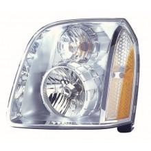 2007 -  2014 GMC Yukon Front Headlight Assembly Replacement Housing / Lens / Cover - Left <u><i>Driver</i></u> Side - (Denali + Denali Hybrid Flex Hybrid)