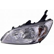 2004 -  2005 Honda Civic Front Headlight Assembly Replacement Housing / Lens / Cover - Left <u><i>Driver</i></u> Side - (Gas Hybrid + Sedan + Coupe)