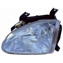 1993 -  1997 Honda Civic del Sol Front Headlight Assembly Replacement Housing / Lens / Cover - Left <u><i>Driver</i></u> Side
