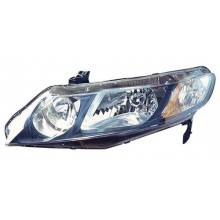 2006 -  2011 Honda Civic Front Headlight Assembly Replacement Housing / Lens / Cover - Left <u><i>Driver</i></u> Side - (Sedan + Gas Hybrid + Hybrid Gas Hybrid)