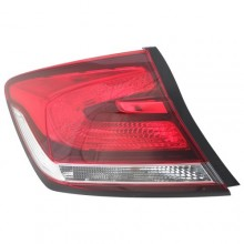 2013 -  2015 Honda Civic Rear Tail Light Assembly Replacement / Lens / Cover - Left <u><i>Driver</i></u> Side Outer - (Sedan)