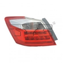 2013 - 2014 Honda Accord Rear Tail Light Assembly Replacement / Lens / Cover - Left <u><i>Driver</i></u> Side Outer - (EX-L + Hybrid EX-L + Hybrid Touring + Touring)