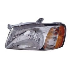 2000 -  2002 Hyundai Accent Front Headlight Assembly Replacement Housing / Lens / Cover - Left <u><i>Driver</i></u> Side