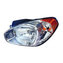 2007 Hyundai Accent Front Headlight Assembly Replacement Housing / Lens / Cover - Left <u><i>Driver</i></u> Side - (Hatchback)
