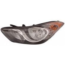 2011 - 2013 Hyundai Elantra Front Headlight Assembly Replacement Housing / Lens / Cover - Left <u><i>Driver</i></u> Side - (Sedan)