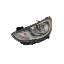 2012 -  2015 Hyundai Accent Front Headlight Assembly Replacement Housing / Lens / Cover - Left <u><i>Driver</i></u> Side - (Hatchback)