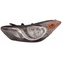 2011 - 2014 Hyundai Elantra Coupe Front Headlight Assembly Replacement Housing / Lens / Cover - Left <u><i>Driver</i></u> Side