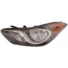 2013 -  2014 Hyundai Elantra Coupe Front Headlight Assembly Replacement Housing / Lens / Cover - Left <u><i>Driver</i></u> Side