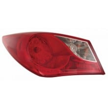 2011 - 2014 Hyundai Sonata Rear Tail Light Assembly Replacement / Lens / Cover - Left <u><i>Driver</i></u> Side Outer