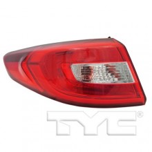 2015 -  2016 Hyundai Sonata Rear Tail Light Assembly Replacement / Lens / Cover - Left <u><i>Driver</i></u> Side Outer