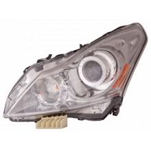 2010 -  2013 Infiniti G37 Front Headlight Assembly Replacement Housing / Lens / Cover - Left <u><i>Driver</i></u> Side - (Base Model Sedan + Journey Sedan)
