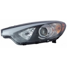2014 -  2016 Kia Forte Front Headlight Assembly Replacement Housing / Lens / Cover - Left <u><i>Driver</i></u> Side - (Sedan)