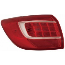 2011 -  2013 Kia Sportage Rear Tail Light Assembly Replacement / Lens / Cover - Left <u><i>Driver</i></u> Side Outer