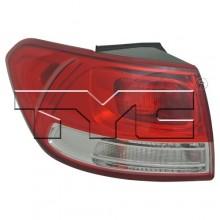 2016 Kia Sorento Rear Tail Light Assembly Replacement / Lens / Cover - Left <u><i>Driver</i></u> Side Outer