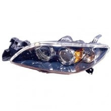 2004 -  2009 Mazda 3 Front Headlight Assembly Replacement Housing / Lens / Cover - Left <u><i>Driver</i></u> Side - (Sedan)