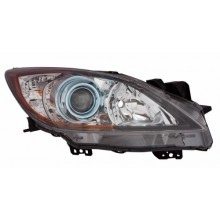 2012 - 2013 Mazda 3 Front Headlight Assembly Replacement Housing / Lens / Cover - Left <u><i>Driver</i></u> Side - (6 Speed Transmission)
