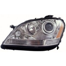 2006 - 2007 Mercedes-Benz ML350 Front Headlight Assembly Replacement Housing / Lens / Cover - Left <u><i>Driver</i></u> Side