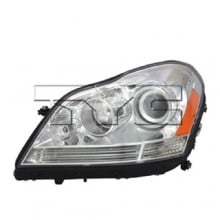 2007 - 2012 Mercedes-Benz GL450 Front Headlight Assembly Replacement Housing / Lens / Cover - Left <u><i>Driver</i></u> Side - (164.871 Body Code)
