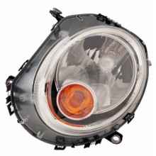 2007 - 2013 Mini Cooper Front Headlight Assembly Replacement Housing / Lens / Cover - Left <u><i>Driver</i></u> Side - (Hatchback)