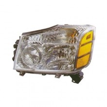 2004 Nissan Pathfinder Armada Front Headlight Assembly Replacement Housing / Lens / Cover - Left <u><i>Driver</i></u> Side