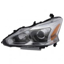 2013 - 2015 Nissan Altima Front Headlight Assembly Replacement Housing / Lens / Cover - Left <u><i>Driver</i></u> Side - (Sedan)