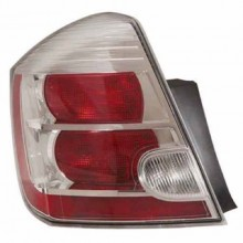 2010 -  2012 Nissan Sentra Rear Tail Light Assembly Replacement / Lens / Cover - Left <u><i>Driver</i></u> Side - (Base Model + S + SL)