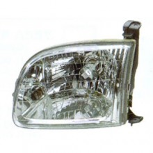 2000 -  2004 Toyota Tundra Front Headlight Assembly Replacement Housing / Lens / Cover - Left <u><i>Driver</i></u> Side - (Standard Cab Pickup + Extended Cab Pickup)