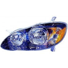 2005 - 2008 Toyota Corolla Front Headlight Assembly Replacement Housing / Lens / Cover - Left <u><i>Driver</i></u> Side - (S + XRS)