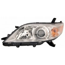 2011 -  2015 Toyota Sienna Front Headlight Assembly Replacement Housing / Lens / Cover - Left <u><i>Driver</i></u> Side - (Base Model + LE + Limited + XLE)