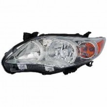 2011 -  2013 Toyota Corolla Front Headlight Assembly Replacement Housing / Lens / Cover - Left <u><i>Driver</i></u> Side - (Base Model + CE + L + LE + S)