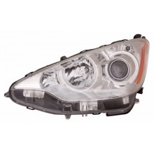 2012 - 2014 Toyota Prius C Front Headlight Assembly Replacement Housing / Lens / Cover - Left <u><i>Driver</i></u> Side