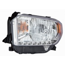 2014 - 2017 Toyota Tundra Front Headlight Assembly Replacement Housing / Lens / Cover - Left <u><i>Driver</i></u> Side - (Limited + SR + SR5)