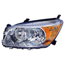 2006 -  2008 Toyota RAV4 Front Headlight Assembly Replacement Housing / Lens / Cover - Left <u><i>Driver</i></u> Side - (Base Model + Limited)