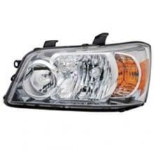 2007 - 2007 Toyota Highlander Front Headlight Assembly Replacement Housing / Lens / Cover - Left <u><i>Driver</i></u> Side