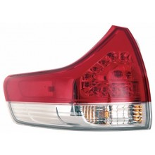 2011 -  2014 Toyota Sienna Rear Tail Light Assembly Replacement / Lens / Cover - Left <u><i>Driver</i></u> Side Outer - (Base Model + LE + Limited + XLE)