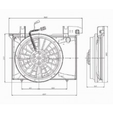 1998 -  2000 Volvo S70 Engine / Radiator Cooling Fan Assembly Replacement